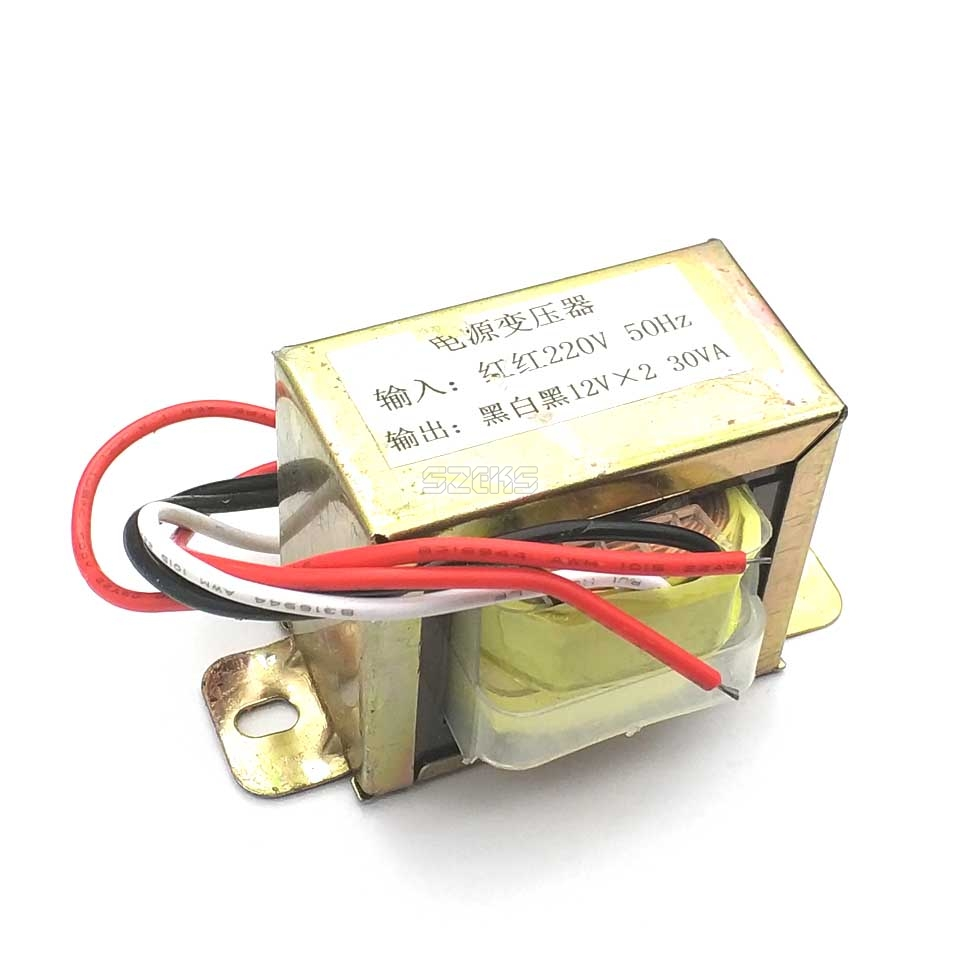 30W Double 12V 30W2*12V Transformer, Power Transformer Input, 220V, 50Hz/ Output, Double 12V