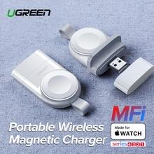 Ugreen שעון חכם מטען עבור אפל שעון מטען סדרת 5 4 3 נייד MFi USB מטען עבור אפל 3 מגנטי אלחוטי טעינה