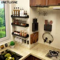 Кухонная Вешалка-органайзер, настенная полка для хранения специй, 3-слойная Висячие мешочки, полка для хранения, органайзер для кухни