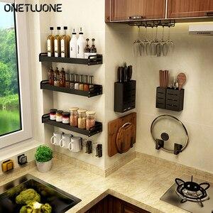 Кухонная Вешалка-органайзер, настенная стойка для хранения специй, трехслойная Висячие мешочки, полка для хранения, кухонный Органайзер