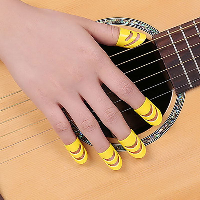 Silicone Finger Guards Guitar Fingertip Protectors For Ukulele Guitar M L Colorful Guitar Fingertips Guitar Tool Kit Accessories
