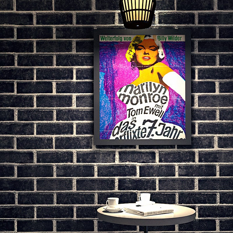 10M Rustic Vintage 3D Faux Brick Wallpaper Roll Vinyl PVC Retro Industrial Loft Wall Paper Red Black Grey Yellow Washable