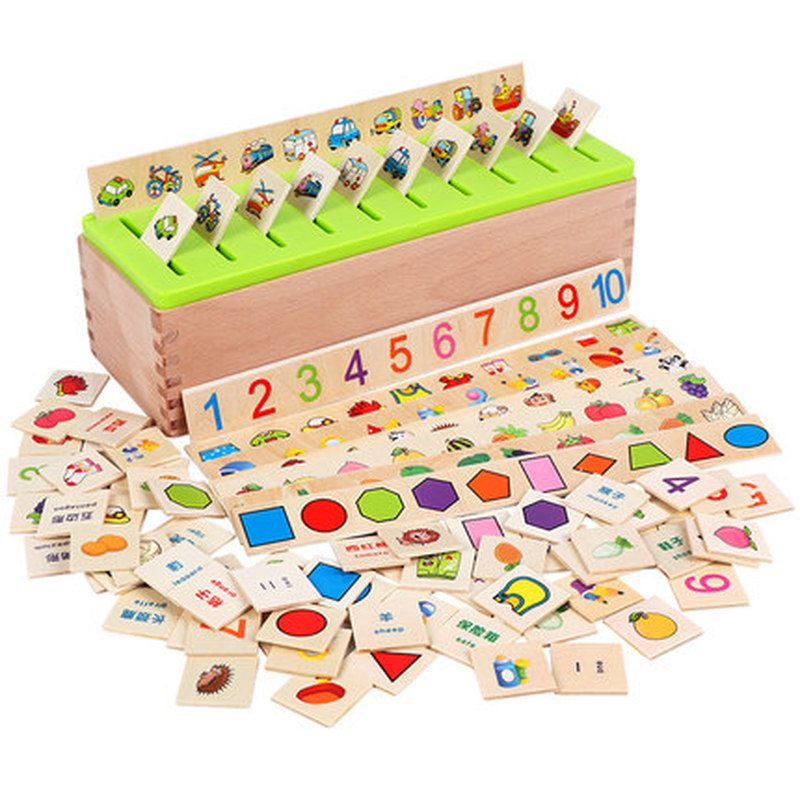 Mathematical Knowledge Classification Early Learn Matching Kids Montessori Early Educational Learn Toy Wooden Cognitive Matching