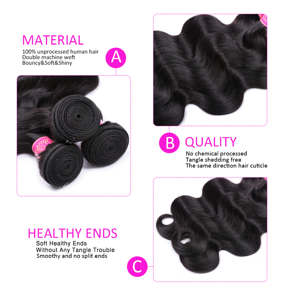 Hdab1012dea9e43f0ae7c04e762ac9c64H Abijale Body Wave Bundles With Closure Brazilian Hair Weave Bundles With Closure Human Hair Bundles With Closure Remy