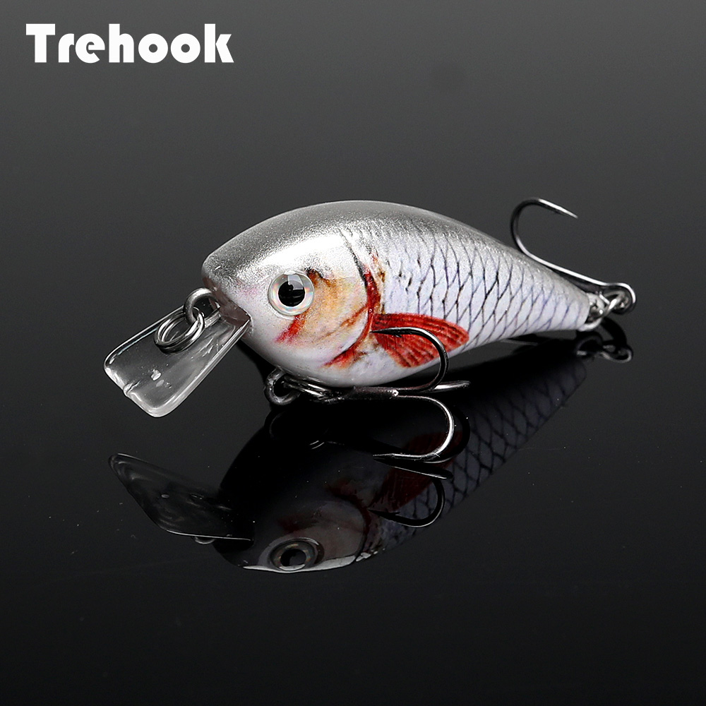 TREHOOK 4.5cm 6g Mini Minnow Wobblers Crank Fishing Lure Artificial Minnow Jerkbait Floating Hrad Lure For Trout Fishing Bait 02