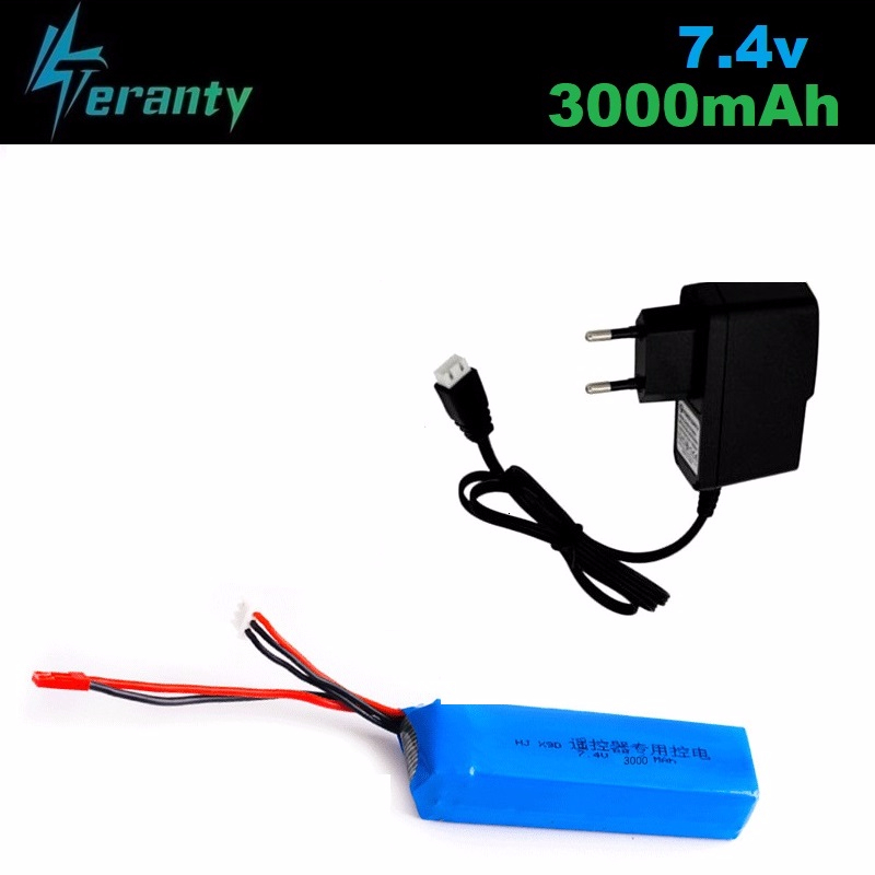 Upgrade <font><b>3000mAh</b></font> <font><b>7.4V</b></font> Rechargeable <font><b>Lipo</b></font> <font><b>Battery</b></font> for Frsky Taranis X9D Plus Transmitter 2S <font><b>Lipo</b></font> <font><b>Battery</b></font> Charger Toy Accessories image