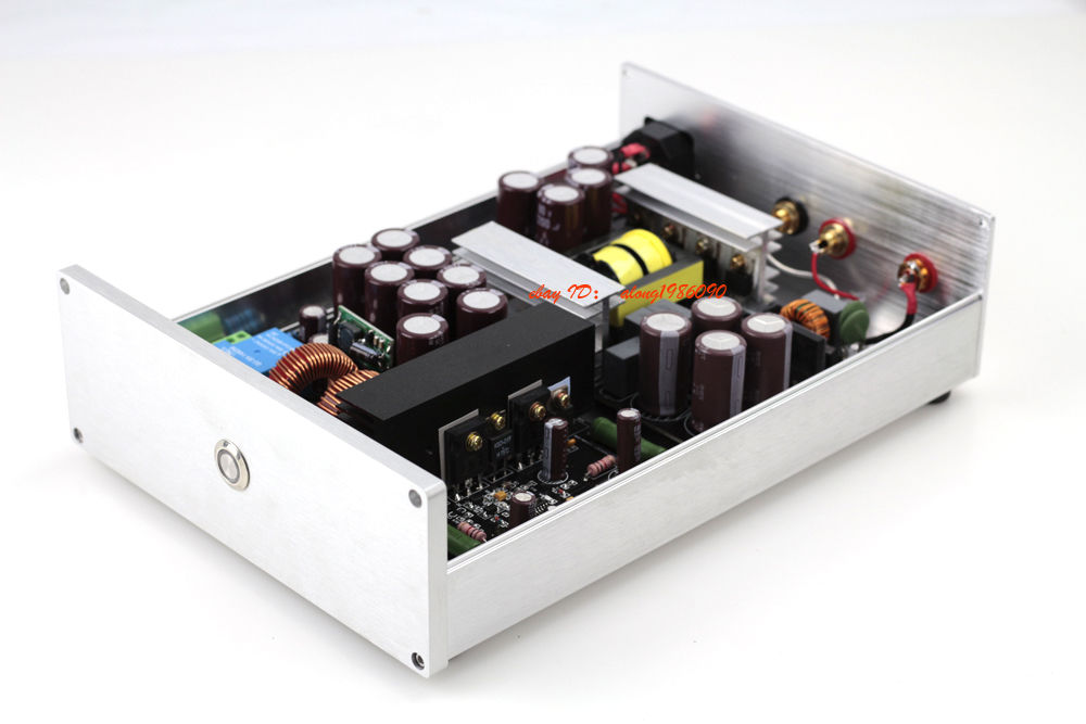 Finished 1000W Mono Hifi Class D Audio Power Amplifier IRS2092 +IRFB4227 Amp Black 110V image
