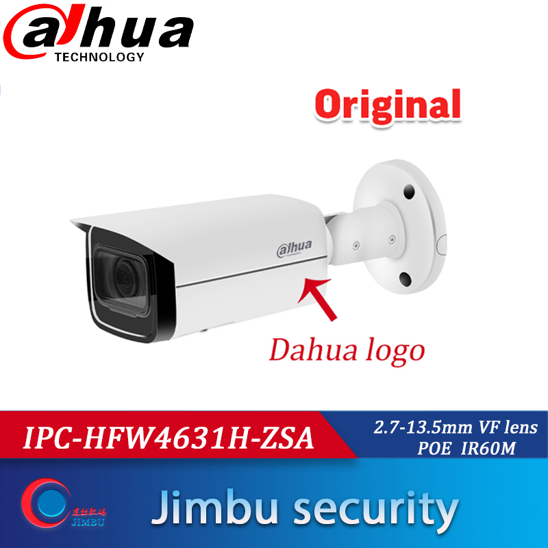 IPC-HFW4631F-ZSA Replacement Of IPC-HFW4631H-ZSA Dahua POE 6MP Camera 2.7-13.5MM Build In Mic  SD Card Slot  Bullet IP Camera