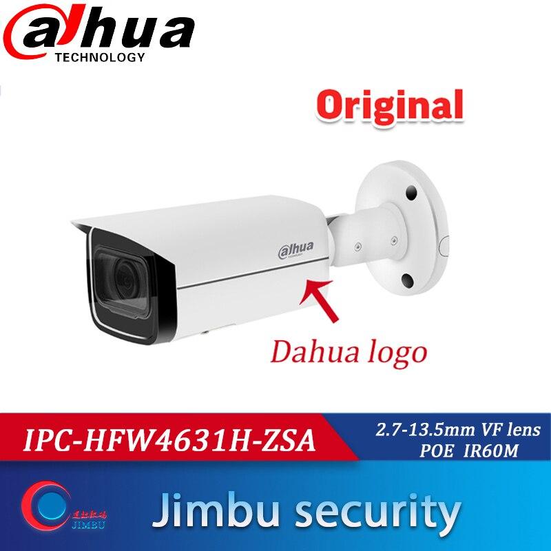 IPC-HFW4631H-ZSA Dahua POE 6MP 2.7-13.5MM avec Microphone intégré fente pour carte SD sécurité venue WDR 3DNR MIC H.265 caméra IPCamera