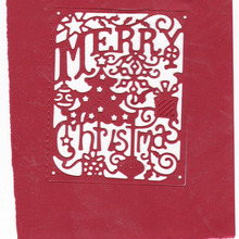 Merry Christmas Frame Metal Cutting Dies Scrapbooking Craft Card Making Album Embossing Stencils DieCuts New for 2019