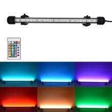 RGB Aquarium Light Lamp Submersible-Light Fish-Tank Underwater LED 19-49CM Lighting-110v-220v