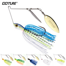 Goture 1PC ELFIN A + Qualität Angeln Locken Spinnerbait 20G/24G High Speed Willow Klingen Metall blei Kopf Spinner Löffel Köder(China)
