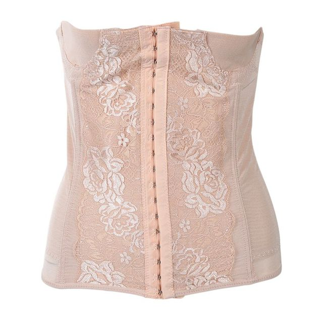 Waist Tummy Belly Slim Body Shaper Shapewear Belt Corset Cincher Trimmer Girdle M beige 3