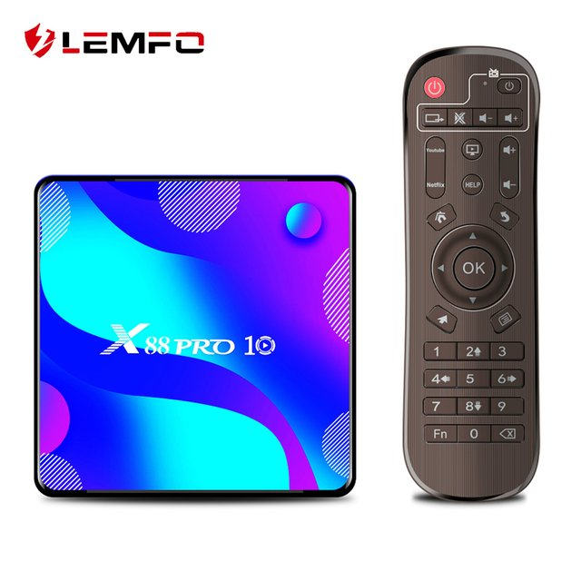 LEMFO X88 Pro 10 Smart TV Box Android 10.0 4GB 64GB 128GB Rockchip RK3318 Support 4K Youtube Google Play