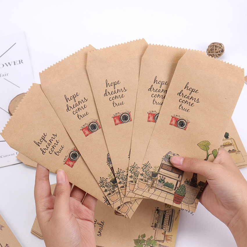 5PCS Those Small Things Kraft Paper Envelope Message Card Letter Stationary Envelopes Office School Supplies Gift