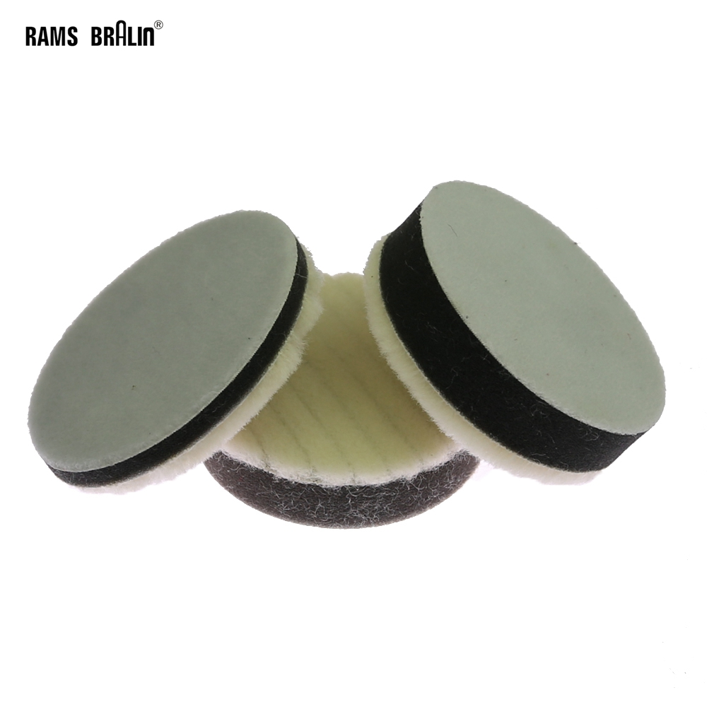 1 Piece 3 In. Japanese Short Wool Sponge Polishing Round Pad Glazing Waxing Tool