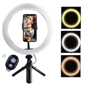 Portable Selfie Ringlight Adjustable Tripod Remote Photography Lighting Phone Photo Led Ring Fill Light Lamp Youtube Tiktok