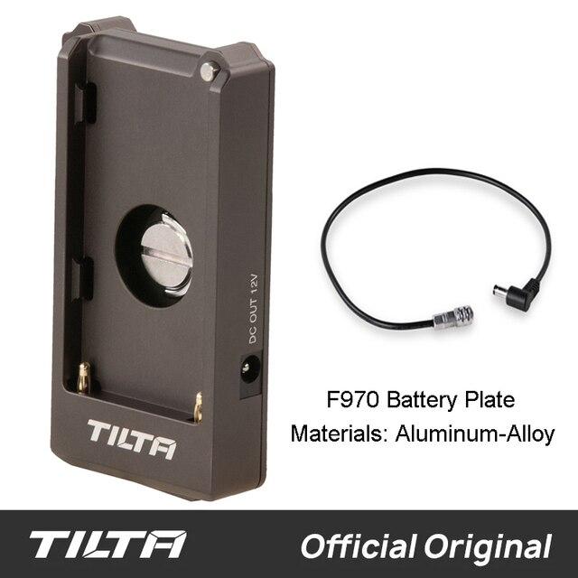 Tilta F970 סוללה צלחת 12V 7.4V יציאת פלט עבור TILTA bmpcc 4k 6k כלוב מצלמה rig