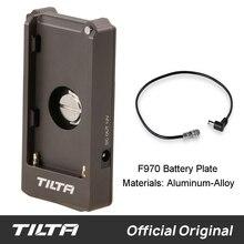 Tilta F970 pil plakası 12V 7.4V çıkış portu TILTA bmpcc 4k 6k kafes kamera rig