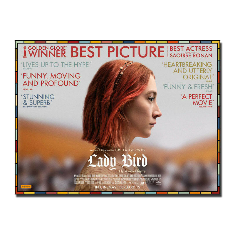 Saoirse Ronan Comedy Film Lady Bird Movie Wall Sticker Home Decoration Silk Art Poster image