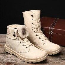 [Пара обуви] популярная импортная обувь больших размеров парусиновая обувь средней и высокой высоты Корейская версия повседневные Ботинки martin