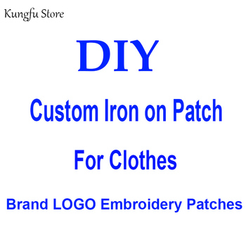 Custom Brand LOGO Patches On Clothes Iron on Embroidered Patches For Clothing Stripes Sticker Sew-on Patch Applique Badge Decor custom embroidered patches customized logo factory direct embroidered iron on sew on patch welcome to custom your own patch