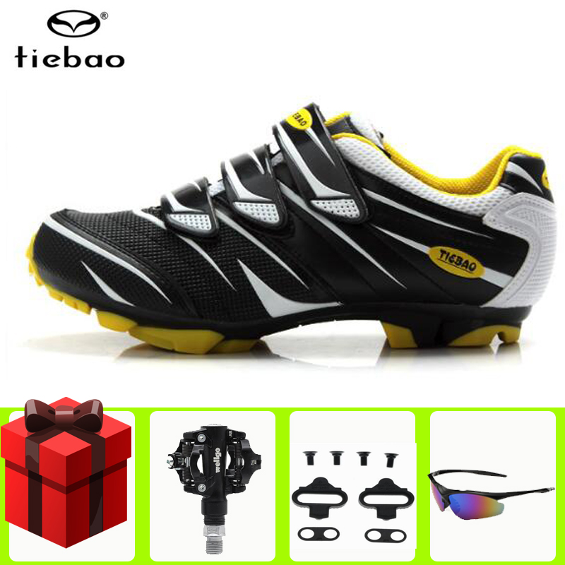 Tiebao cycling shoes sapatilha ciclismo mtb Mountain Bike SPD pedals set Sneakers Men Self-Locking Athletic Riding Bicycle Shoes
