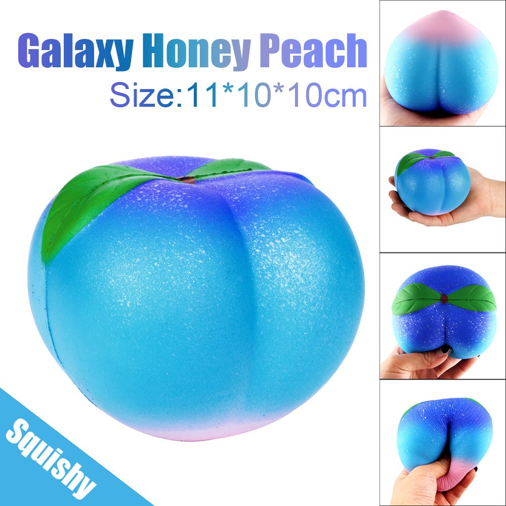 Toys For Children 11CM Galaxy Honey Peach Cream Scented Squishy Slow Rising Squeeze Strap Kids Toy Squishy Toys Juguetes