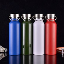Get more info on the New creative sports bottle 600ML304 stainless steel mug outdoor travel student portable leak-proof personality insulation pot