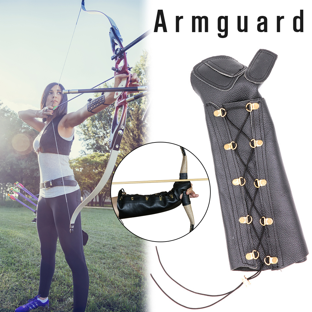 PU Leather Equipment Protection Arm Guard Professional Strap Gear Target Archery