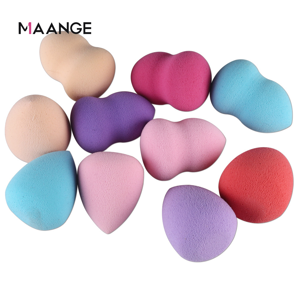 1/4/5/10Pcs Makeup Foundation Sponge Cosmetic Puff Powder Make Up Facial Contour Beauty Tool Kit Random Color Wholesale
