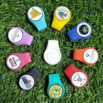 Suport pentru marcator cu minge din silicon pentru pălărie de golf, cu atașare magnetică puternică la centura de buzunar a hainelor accesorii de golf