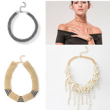 Wild&Free Women Statement Necklaces Fashion Multilayer Beaded Choker Necklace Wholesale Wedding Jewelry Best Gift(China)