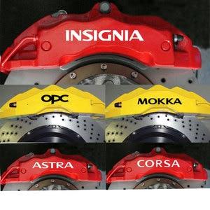 4 шт., виниловые наклейки для тормозных суппортов Opel OPC Astra J H G K Insignia Corsa D B E Mokka Vectra B, премиум-класса, с наклейками