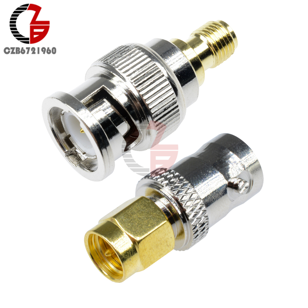 RF Coax Coaxial SMA Male Plug To BNC Female BNC Fmale To SMA Female M/F Radio Antenna Connector Adapter