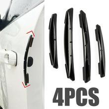 4PCS Car Door Anti-collision Bumper Strip Guards Side Protector Sticker for Renault Honda Mugen Nismo Type R Mitsubishi RalliArt
