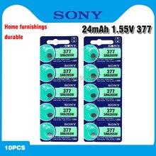 Sony – batterie de montre en oxyde d'argent 100% V, 10 pièces, 377 d'origine SR626SW SR626 AG4 1.55V SR626SW 377