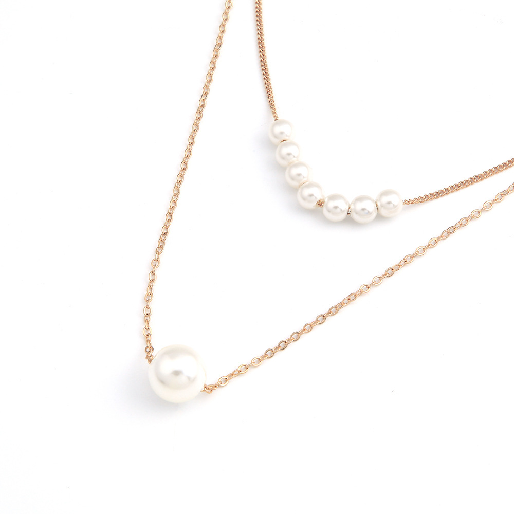 Imitation Pearls Choker Necklace Female Pendant Necklaces for Women Gold Silver Color Layered Necklace 2020 Simple New