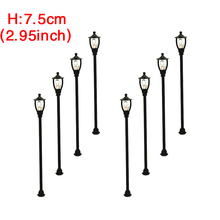 50pcs HO architectural courtyard solar model lamppost for scale train layout lamps