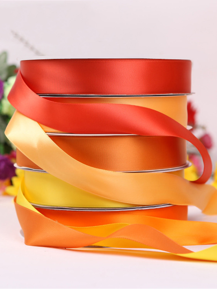 6/10/20/30mm 25Yards Silk Satin Ribbons Wedding Decoration DIY Rose Flowers Crafts Supplies Red Gift Bow Ribbon Green Blue Pink