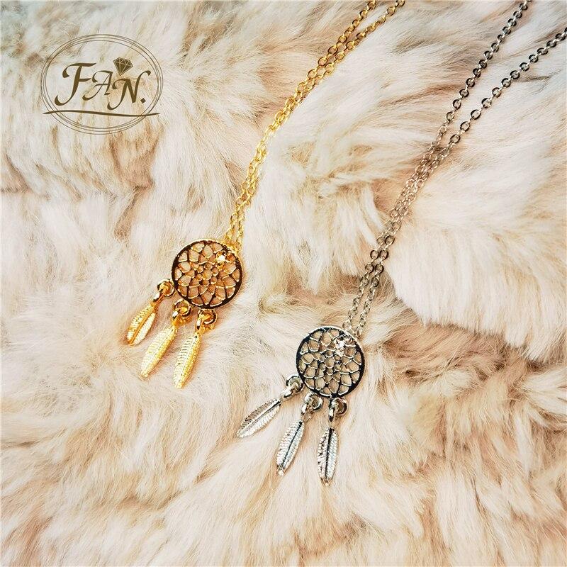 Colgante de atrapasueños para chica y mujer, collar Vintage, cadena de Color dorado y plateado, gran oferta, nueva moda, 2021