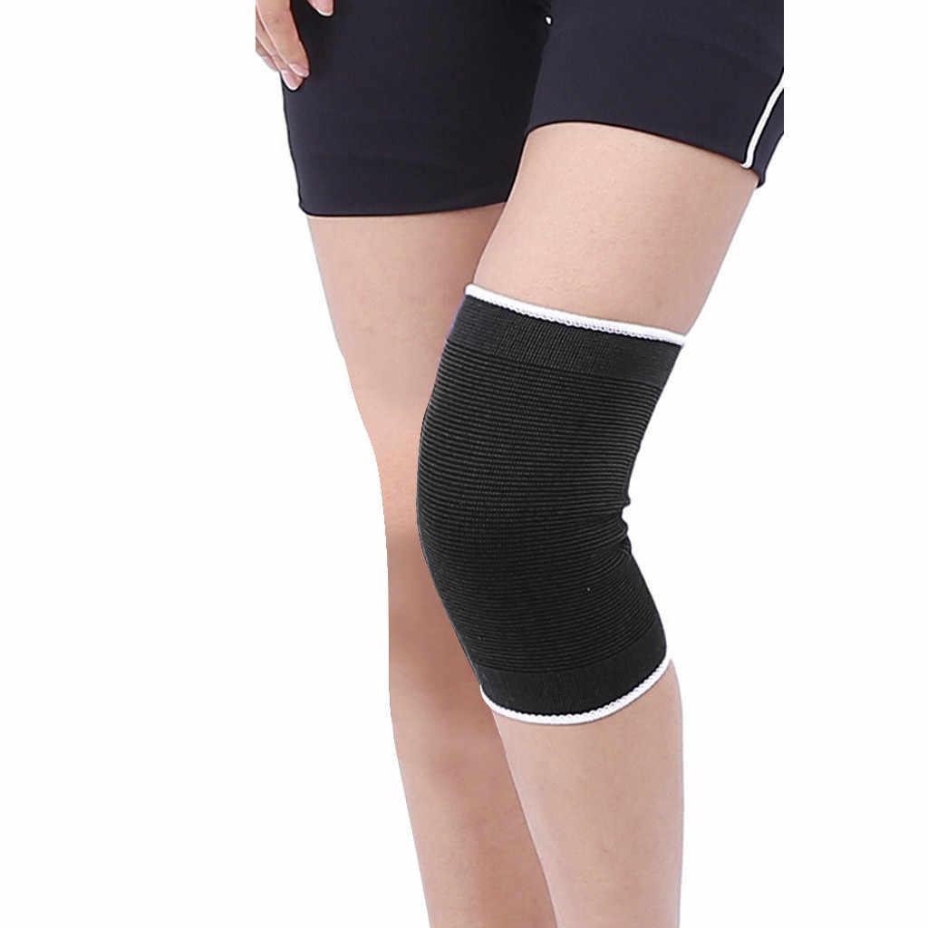 Rodilleras elásticas, rodilleras azules, rodillera, soporte para artritis de pierna, vendaje elástico para gimnasio, 1 unidad, # YL10