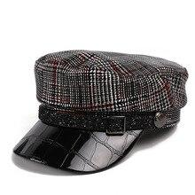 Восьмиугольная кепка для девочек, женские береты, женские повседневные винтажные зимние шапки, модные шапки для художника, военные шапки Newsboy, Кепка