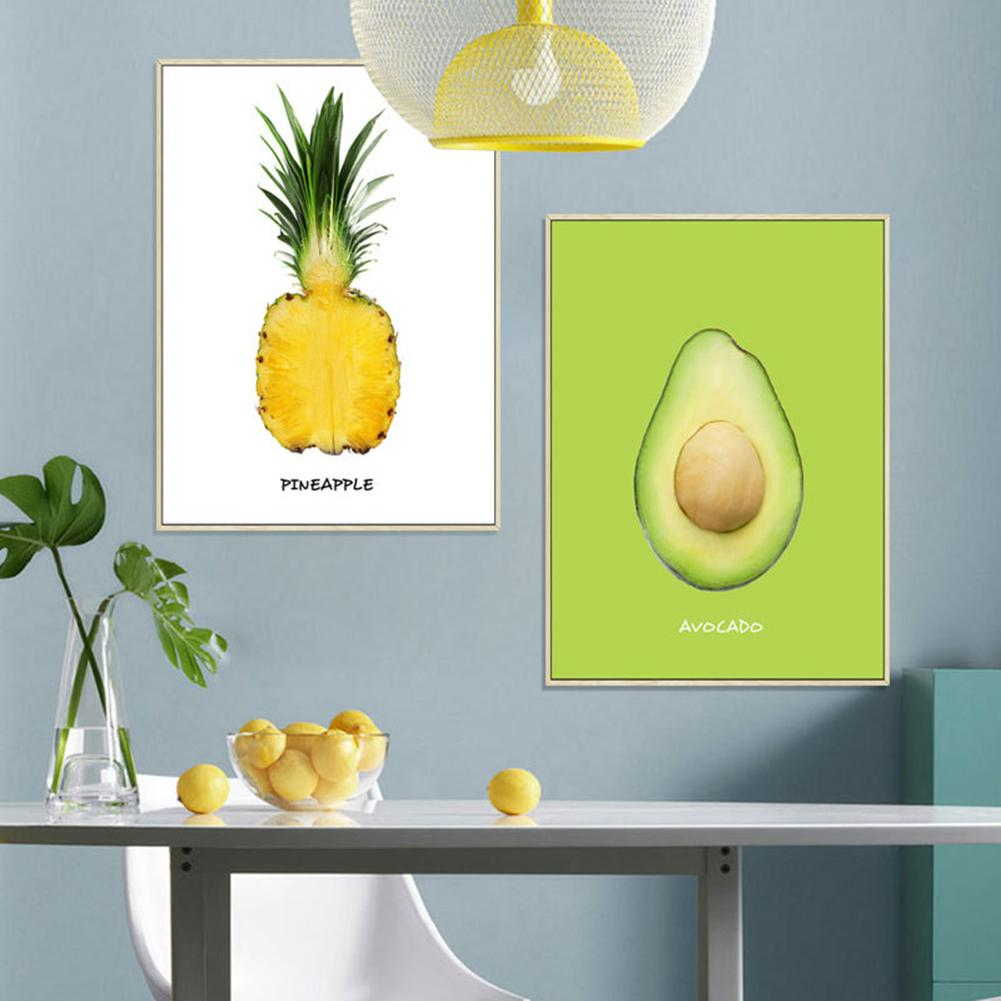 new 40 x 60cm Self-adhesive Wall Sticker Pineapple Avocado Waterproof Stickers Decals Room Decoration Wallpapers Home Decor
