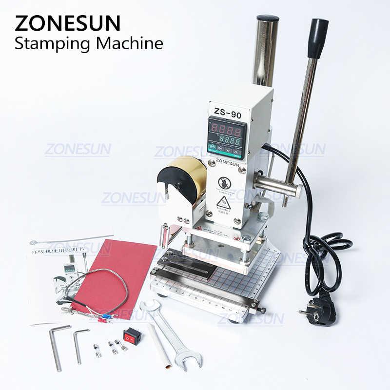 ZONESUN ZS90 Neue Heiße Folie Stanzen Maschine Manuelle Bronzing Maschine für PVC Karte Leder Papier Präge Stanzen Maschine