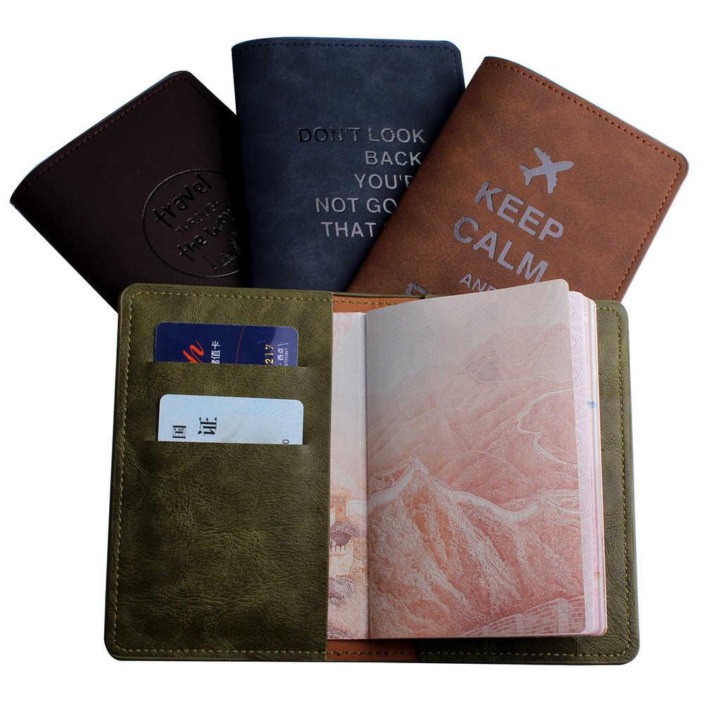 Aarde Zien De Wereld Reizen Paspoort Cover Case Card Vrouwen Mannen Reizen Creditcardhouder Reizen Id Document Paspoorthouder CH09B