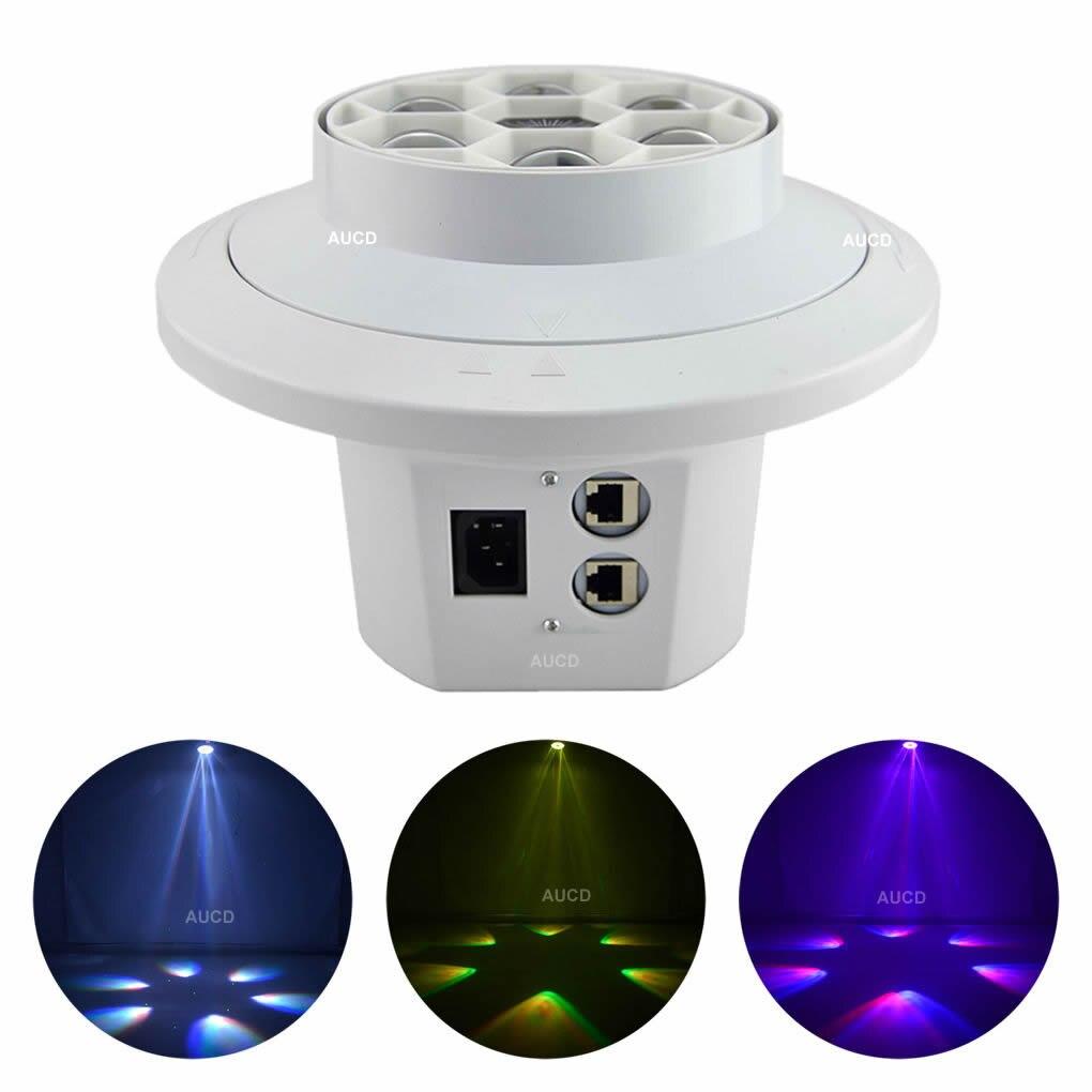 AUCD 6 Eyes RGBW LED rotativo Spotlight lámpara de techo Mix DJ Disco DMX láser verde Meteor proyector etapa fiesta Show luces LE6EG