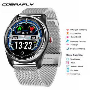 Image 1 - Cobrafly  MX9 Smart Watch Men Fitness ECG+PPG HRV Heart Rate Blood Pressure Monitoring IP68 Waterproof Bracelet for Android IOS