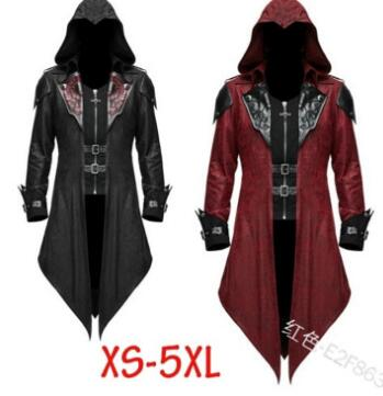 Assassin S Creed Cosplay Adult Man Woman Streetwear Hooded Pu