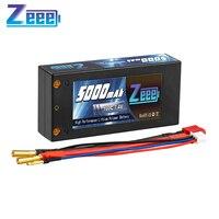 Zeee-batería Lipo 2S 7,4 V 100C 5000mAh, carcasa rígida con conector decanos para vehículos a escala 1/10, coches, camiones y barcos RC